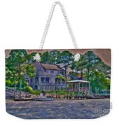 Crusing The Icw At Sullivan's Island Sc Weekender Tote Bag