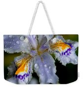 Crying Fringed Iris-iris Japonica Weekender Tote Bag