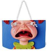 Crying Girl Weekender Tote Bag