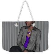 Crystal In Gray Waiting Weekender Tote Bag