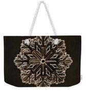 Crystal Snowflake Weekender Tote Bag