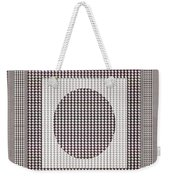 Crystal White And Gray Dots Design Pattern Shade Deco Decoration Weekender Tote Bag