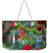 Crystals On Flowers Weekender Tote Bag