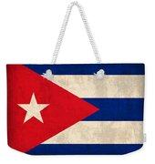 Cuba Flag Vintage Distressed Finish Weekender Tote Bag