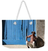 Cuban Man And His Cigar Weekender Tote Bag