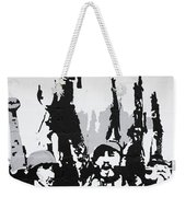 Cuban Revolution Painted On A Wall Weekender Tote Bag