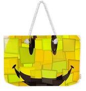 Cubism Smiley Face Weekender Tote Bag