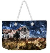 Cubist Abandoned Prairie Farm House Weekender Tote Bag