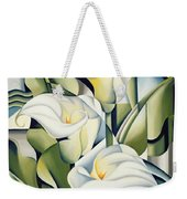 Cubist Lilies Weekender Tote Bag by Catherine Abel