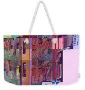 Colorful Old Buildings Of New York City - Pop-art Style Weekender Tote Bag