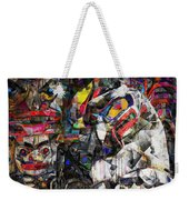 Cubist Photographic Composition Of Totem Poles Weekender Tote Bag