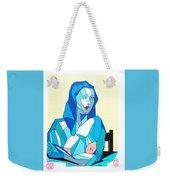 Cubistic Blue Lady Weekender Tote Bag