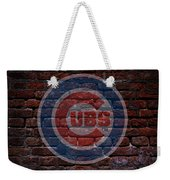 Cubs Baseball Graffiti On Brick  Weekender Tote Bag