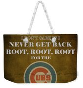 Cubs Peanuts And Cracker Jack  Weekender Tote Bag