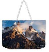 Cuernos Del Paine At Sunrise Weekender Tote Bag