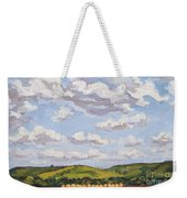 Cumulus Clouds Over Flint Hills Weekender Tote Bag by Erin Fickert-Rowland