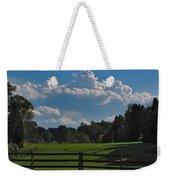 Cumulus Over Green Pastures Weekender Tote Bag