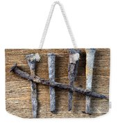 Counting With Old Nails Weekender Tote Bag