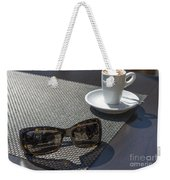 Cup Of Coffee And Sunglasses Weekender Tote Bag
