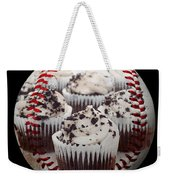 Cupcake Cuties Baseball Square Weekender Tote Bag