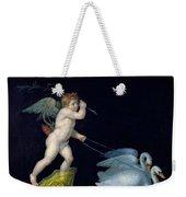 Cupid Being Led By A Pair Of Swans Weekender Tote Bag