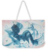 Curiosity Finds The Cat Weekender Tote Bag