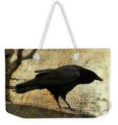 Curious Crow Weekender Tote Bag