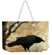Curious Crow Weekender Tote Bag