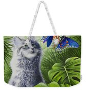 Curious Kiwi Weekender Tote Bag by Carolyn Steele