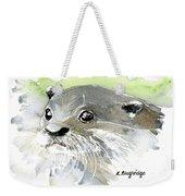 Curious Otter Weekender Tote Bag