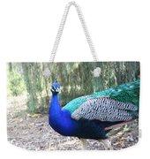 Curious Peacock Weekender Tote Bag