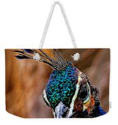 Curious Peacock Digital Art Weekender Tote Bag