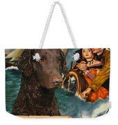 Curly Coated Retriever Art - The World In His Arms Movie Poster Weekender Tote Bag