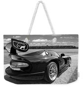 Curvalicious Viper In Black And White Weekender Tote Bag