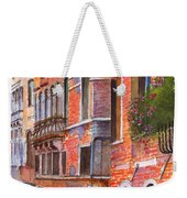 Curved Canal Venice Weekender Tote Bag