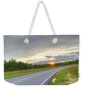 Curvy Road Sunset Weekender Tote Bag