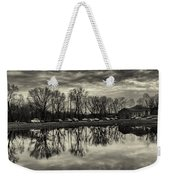Cushwa Basin C And O Canal Black And White Weekender Tote Bag