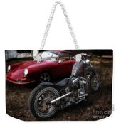 Custom Bike And Porsche Weekender Tote Bag