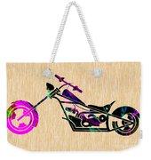 Custom Chopper Motorcycle Weekender Tote Bag