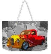 Custom Flames Weekender Tote Bag