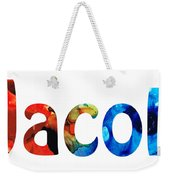 Customized Baby Kids Adults Pets Names - Jacob 5 Name Weekender Tote Bag