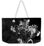 Cut Flowers In Monochrome Weekender Tote Bag