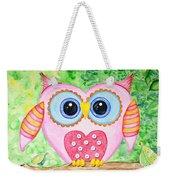 Cute As A Button Owl Weekender Tote Bag