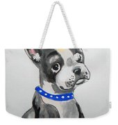 Boston Terrier Wall Art Weekender Tote Bag