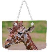 Cute Giraffe Portrait  Weekender Tote Bag