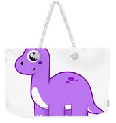 Cute Illustration Of A Brontosaurus Weekender Tote Bag