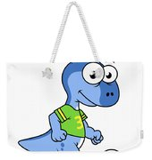 Cute Illustration Of A Parasaurolophus Weekender Tote Bag