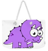 Cute Illustration Of A Triceratops Weekender Tote Bag