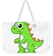 Cute Illustration Of Tyrannosaurus Rex Weekender Tote Bag