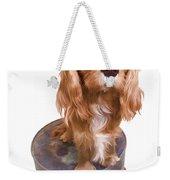 Cute Puppy Card Weekender Tote Bag by Edward Fielding